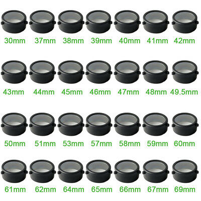 Outdoor Rifle 30mm-69mm Clear Scope cover Protect Cap Open Objective Lens Eye