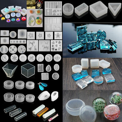 Clear Square Mold Silicone Jewelry Making Mould Polymer Clay Resin Casting Craft