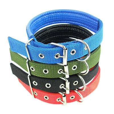 Pet Puppy Neck Strap Small Large Dog Nylon Sponge Buckle Collar Adjustable S-XXL