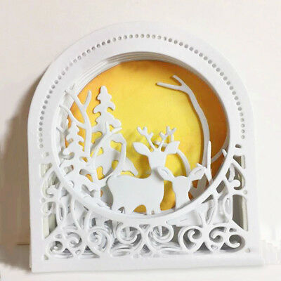 Round Frame Background Metal Cutting Dies Stencil Scrapbook Embossing Card Craft