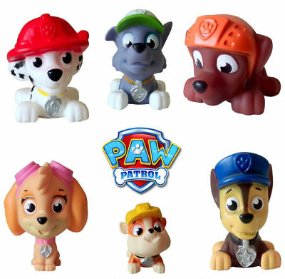 6Pcs Paw Puppy Pups Rescue Dog With Sound Rubber Action Figures Figurines Toy
