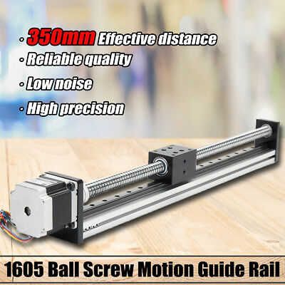 350mm Linear Actuator 1605 Ball Screw Motion Guide Rail +57 Motor For CNC Router