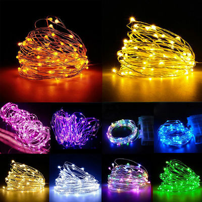50/100 Led Battery Micro Rice Wire Copper Fairy String Lights Christmas Party