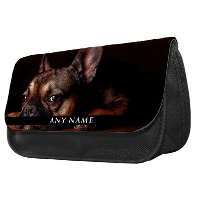 Personalised Utility Dogs Pencil Case Kids Boston Terrier French Bulldog Poodle