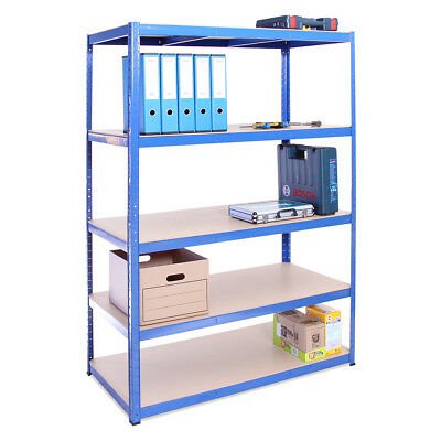 5 Tier Garage HUGE Blue Wide Deep Metal Shelving Racking Unit 180 x 120 x 60cm