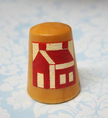 Hand Painted Signed Numbered Thimble School House Quilting Block Pattern M7