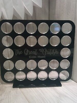 10p pence coin album A-Z Alphabet Great British Hunt Display Case capsule frame