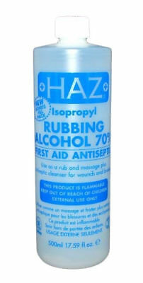 2X Haz Isopropyl Rubbing Alcohol 70 % First Aid Antiseptic 500ml
