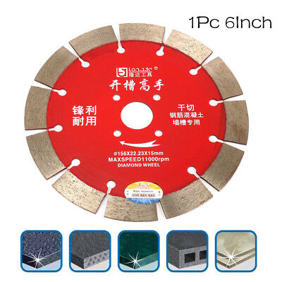 6Inch Diamond Circular Saw Blade Cutting Ceramic Tile Marble Concrete Tool 156mm