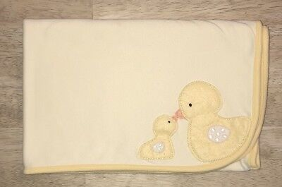 Carters Ducks Baby Blanket Yellow Cotton Security Lovey Mommy & Baby