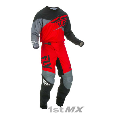 2019 Fly Racing F-16 F16 Red Black Grey MX Motocross Offroad MX Kit Gear Adults