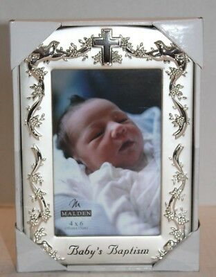 NIB Malden Baby's Baptism 4 x 6 Silver Picture Photo Frame 6901-46 FREE Shipping