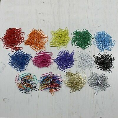 Paper Clips 31mm Large Plain Single Coloured Packs and Assorted