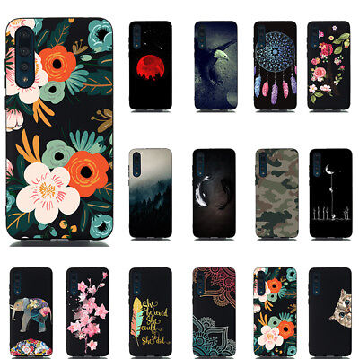 For Huawei P8 P9 P10 P20 Lite  Pattern Slim Soft Rubber TPU Phone Case Cover New