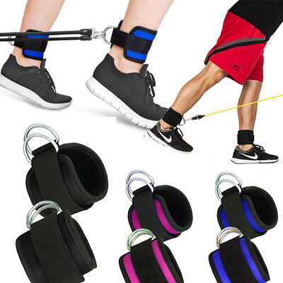 Adjustable Neoprene Ankle Straps Cable Machines Weights Strong Abs Leg Glutes UK