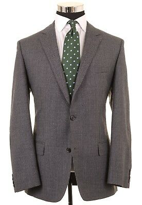 RECENT Hugo Boss 'The Smith' Gray Houndstooth Check Wool Sport Coat Jacket 42 L