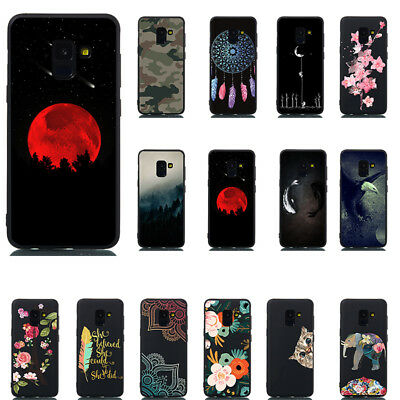 For Samsun S8 S9 Plus A6 A8 2018 Pattern Slim Soft Rubber TPU Phone Case Cover