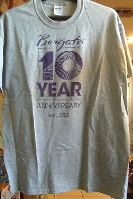 Borgata Hotel Casino Atlantic City 10 Year Anniversary T Shirt Xl + Bonus