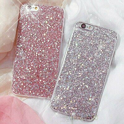 For iPhone X 8 7 6 Plus Full Bling Glitter Sparkle Protective Phone Case Cover