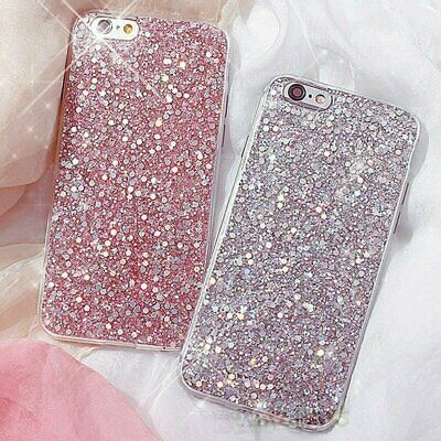 For iPhone XS Max XR X 8 7 6 Plus Full Bling Glitter Protective Phone Case Cover