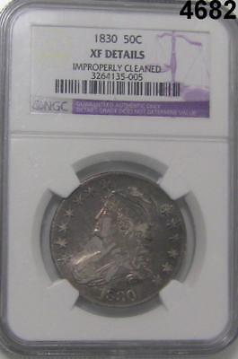 1830 Capped Bust Half Dollar Ngc Certified Xf Details Cleaned Golden! #4682