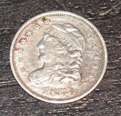 1833 H10C Capped Bust Silver Half Dime