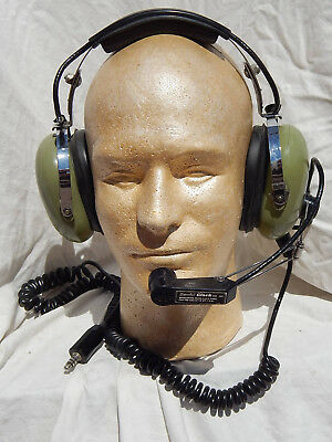 Pilot's David Clark Headset  with Boom Microphone, Tested Okay!,