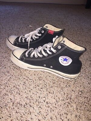 638b619b1b1a RARE Steel Toe Vintage High Top Black Chuck Taylors Converse All Star Size  11