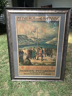 Nc Wyeth Original Rare Pennsylvania Railroad Poster Pittsburgh In The Beginning