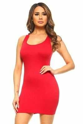 Women's Ribbed Fitted T-Shirt Body Con Dress