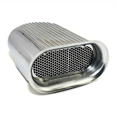 Hilborn Style Aluminum Polished Finned Hood Air Scoop Kit - Single 4 BBL Carb