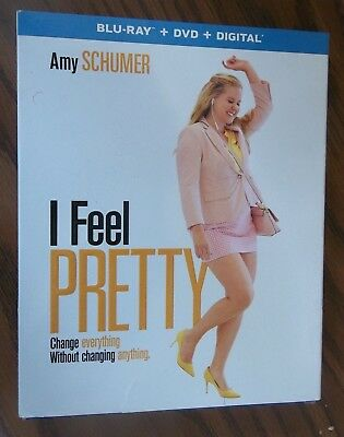 I Feel Pretty Blu-ray Disc + DVD + Digital NEW Sealed AMY SCHUMER w/ Slipcover
