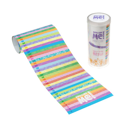 Measure Me! Pastel Rows - Children's Roll-Up Wall Growth Height Chart 0-200cm