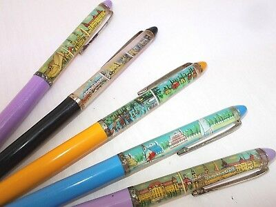 Vintage ballpoint pen ball point floaty floating Hungary 1980's LOT 2