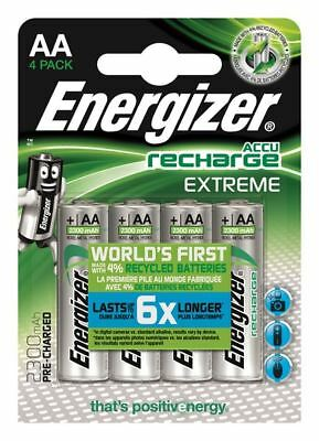 4 x Energizer AA 2300 mAh Rechargeable Batteries EXTREME Pre Charged NiMH LR6