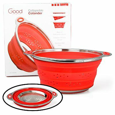 Good Cooking - Collapsible Colander with Stainless Steel Base