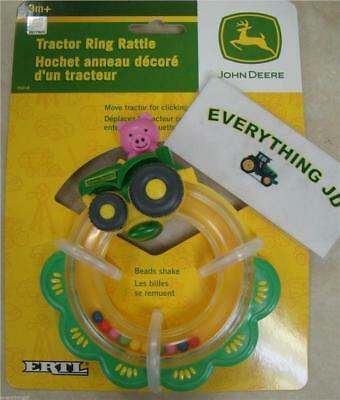 John Deere Baby Tractor Ring Rattle - TBEKY5218