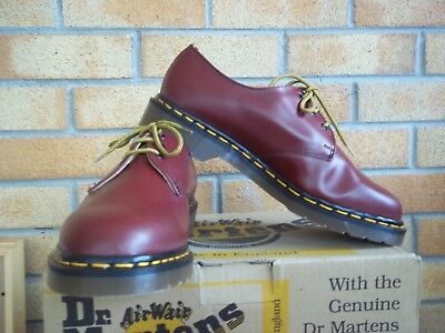Dr. Martens, 1461 Smooth, Cherry Red Size 9 Made In England Free P+P