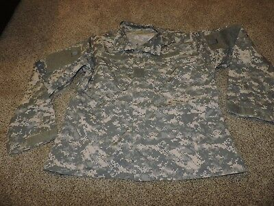 Us Army Combat Coat Extra Large Long Military Acu Shirt Uniform Xl L