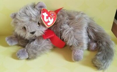 Beanie Babies gray Kitty Cat Beani July 26 2000 TY Collectible