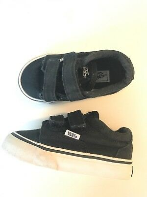 UNISEX BLACK VANS Old Skool Velcro Toddler Size  5 -  12.99  0f579ca31