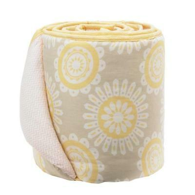 Lolli Living Scarlet Lucy Cotton Baby Crib Bumper 4-Piece New Yellow Flowers
