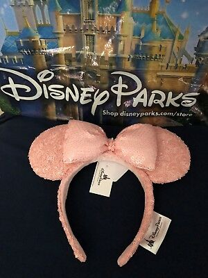 Disney Parks Minnie Mouse Millenial Sequins Ears Headband 2018 New with Tags