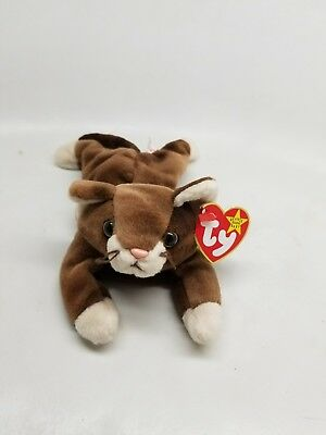 TY Beanie Baby - POUNCE the Cat (8 inch) - Stuffed Animal Toy
