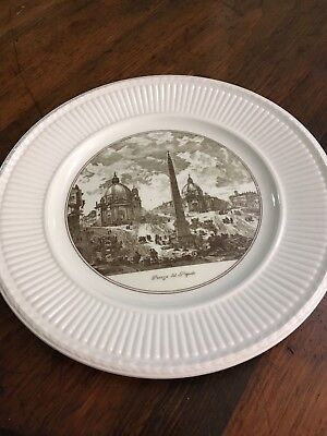 Piazza Del Popolo Wedgewood plate, twin churches , Rome.