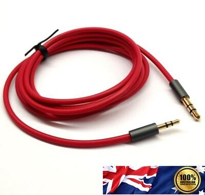 AUX Cable 3.5mm Stereo Audio Input Extension Male to Male Car Red Cord AU