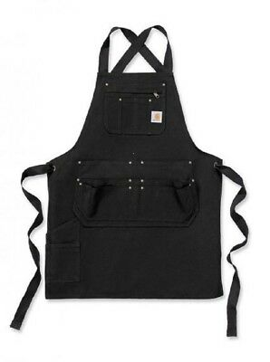 Carhartt Black Duck Work Apron Multple pockets Adjustable ties