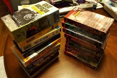 Lot #3 (19) VHS Tapes Trains Railroad Green Frog Steam Set Tested 2017