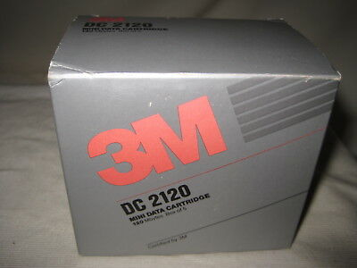 3M Mini Data Cartridge 5 Pack DC2120 Formatted 120MB New Factory Sealed