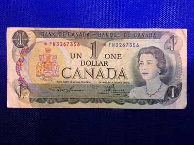 1973 Bank of Canada 1 Dollar Replacement Note Serial: *FN3267356